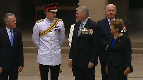 The visit kicks off Captain Wales' month-long military tour of Australia. (9NEWS)