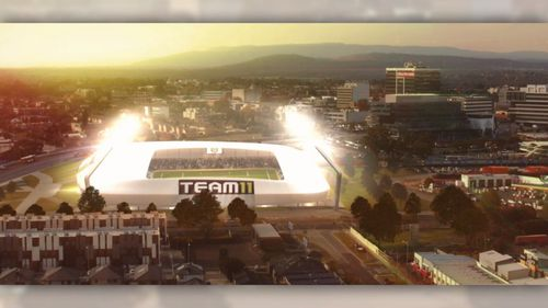 The 15,000-seater stadium would be a stone's throw from the train station in Dandenong. Picture: 9News
