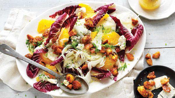 Candied chestnut salad