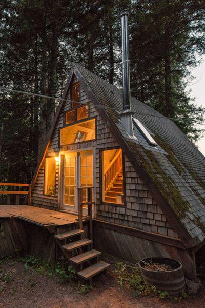 A-frame cabin in the Redwoods—Cazadero, Califorina