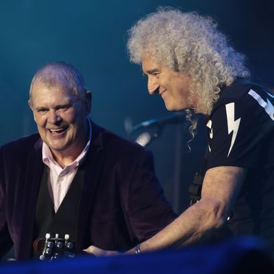 John Farnham and Brian May of Queen