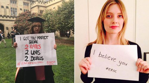End Rape on Campus Australia is asking supporters to share messages of support for survivors. (Photo: EROC)