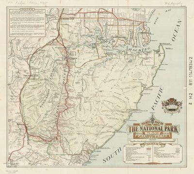 Tourist map of the National Park, 1934