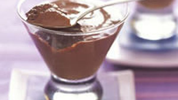 Silky chocolate mousse