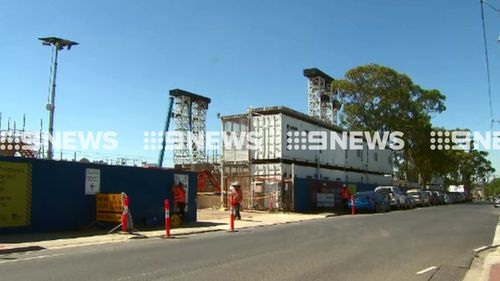 Sky rail constructions are underway. (9NEWS)