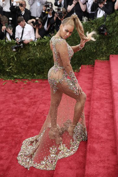 <p>2015: Beyonc&eacute; doesn&rsquo;t need a stage to demonstrate her style chops, taking on fashion&rsquo;s best at the 2015 Met Gala, China: Through The Looking Glass. </p> <p>Serving body, body, body in a Givenchy gown that tested the limits of sheer.</p>