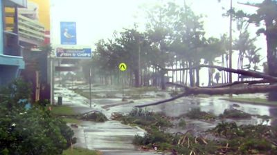Tens of thousands of homes are without power and hundreds of people packed into an evacuation centre as Cyclone Marcia hammers Yeppoon. However, the storm is set to affect a vast swathe of the state. (9NEWS)