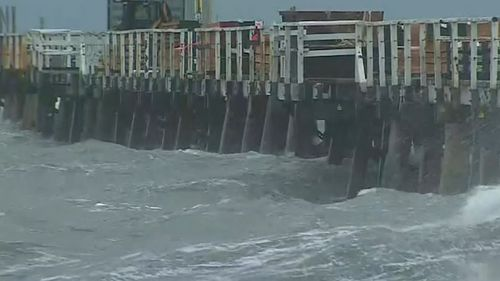 Tides are up in South Australia. Picture: 9NEWS