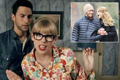"""Taylor's 'We Are Never Ever Getting Back Together' clip features a guy with strikingly similar looks to Jake. He's meant to be too cool, as the lyrics say, """"And you will hide away and find your peace of mind with some indie record that's much cooler than mine""""."""