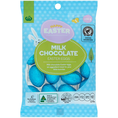 Woolworths Solid Milk Chocolate Easter Eggs