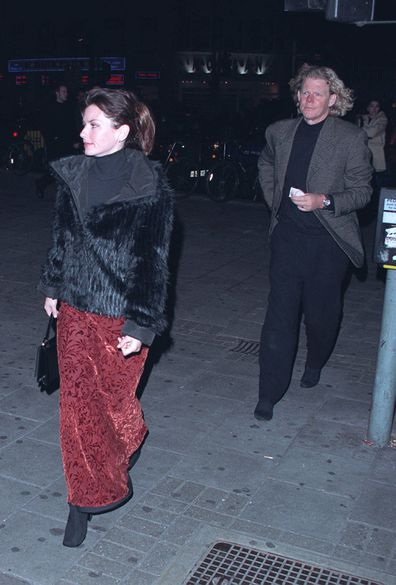 Shania Twain and Robert John 'Mutt' Lange attending a performance of Swan Lake at the Dominion Theatre in London West End in February 2000.
