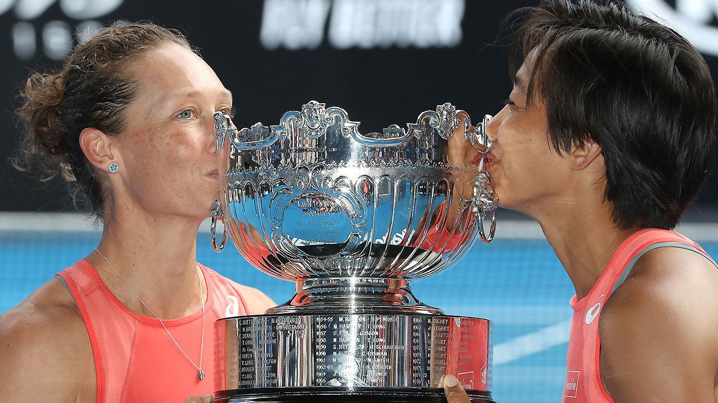 Samantha Stosur shocks reigning champions and ends doubles title drought