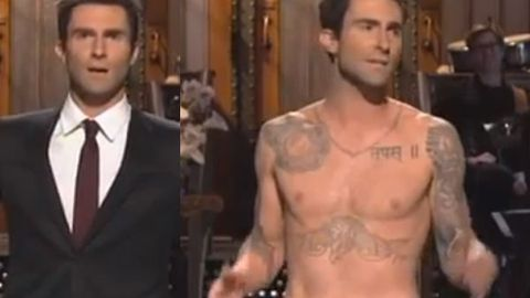 Watch: Maroon 5's Adam Levine goes shirtless in <i>Saturday Night Live</i> spoof