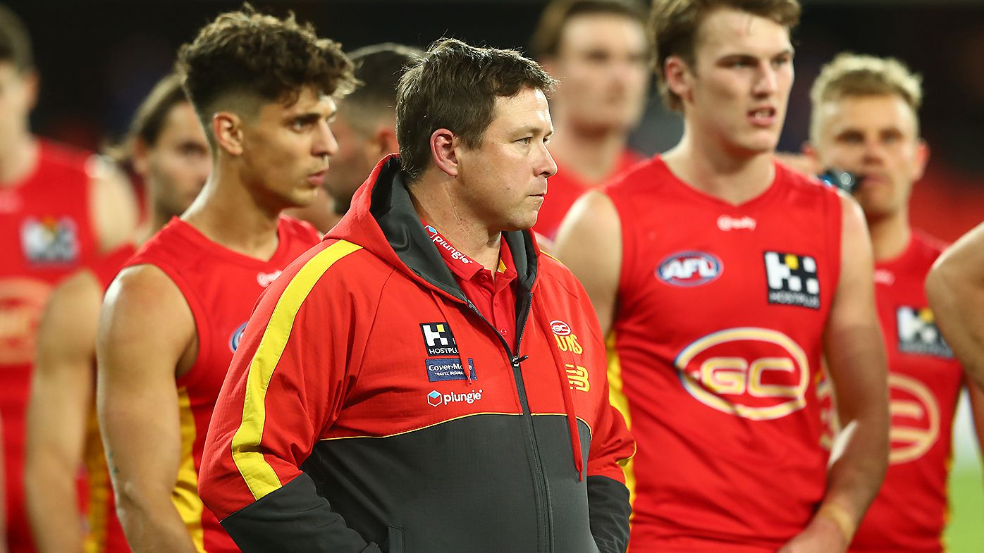 'Clearly unacceptable': Stuart Dew blasts Gold Coast Suns after embarrassing Q-clash defeat
