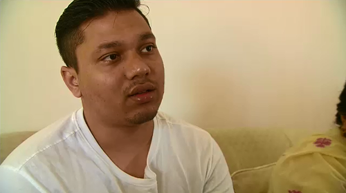 Anand Singh was injured by two bullets during a pizza shop robbery in January.