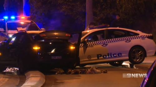 A man has been charged with a range of offences after a head-on crash with a police vehicle on Friday evening.