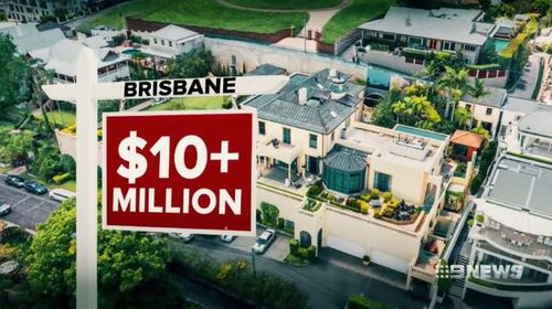 This mansion owned by Christopher Skase sold for more than $10 million. Picture: 9NEWS