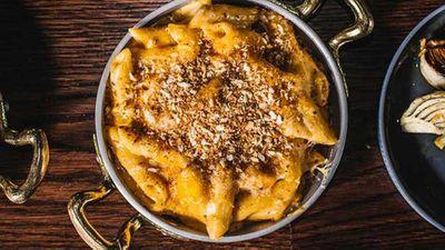 "Recipe:&nbsp;<a href=""http://kitchen.nine.com.au/2017/02/16/10/28/eastside-grills-truffled-mac-n-cheese"" target=""_top"" draggable=""false"">Eastside Grill's truffled mac 'n' cheese</a>"