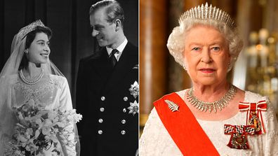 Queen Mary Fringe tiara worn by Queen Elizabeth