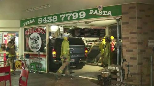Emergency crews assess the damage at Frankie J's. Picture: 9NEWS