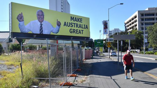 A Clive Palmer billboard in Queensland.