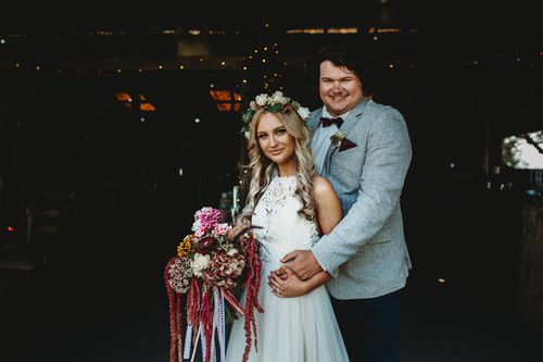 Mikaila was given six months to live, had to delay her wedding and was swamped in treatment costs - but for the generosity of her wedding photographer, Beth, and the local community, her big day got organised. (Beth Fernley)