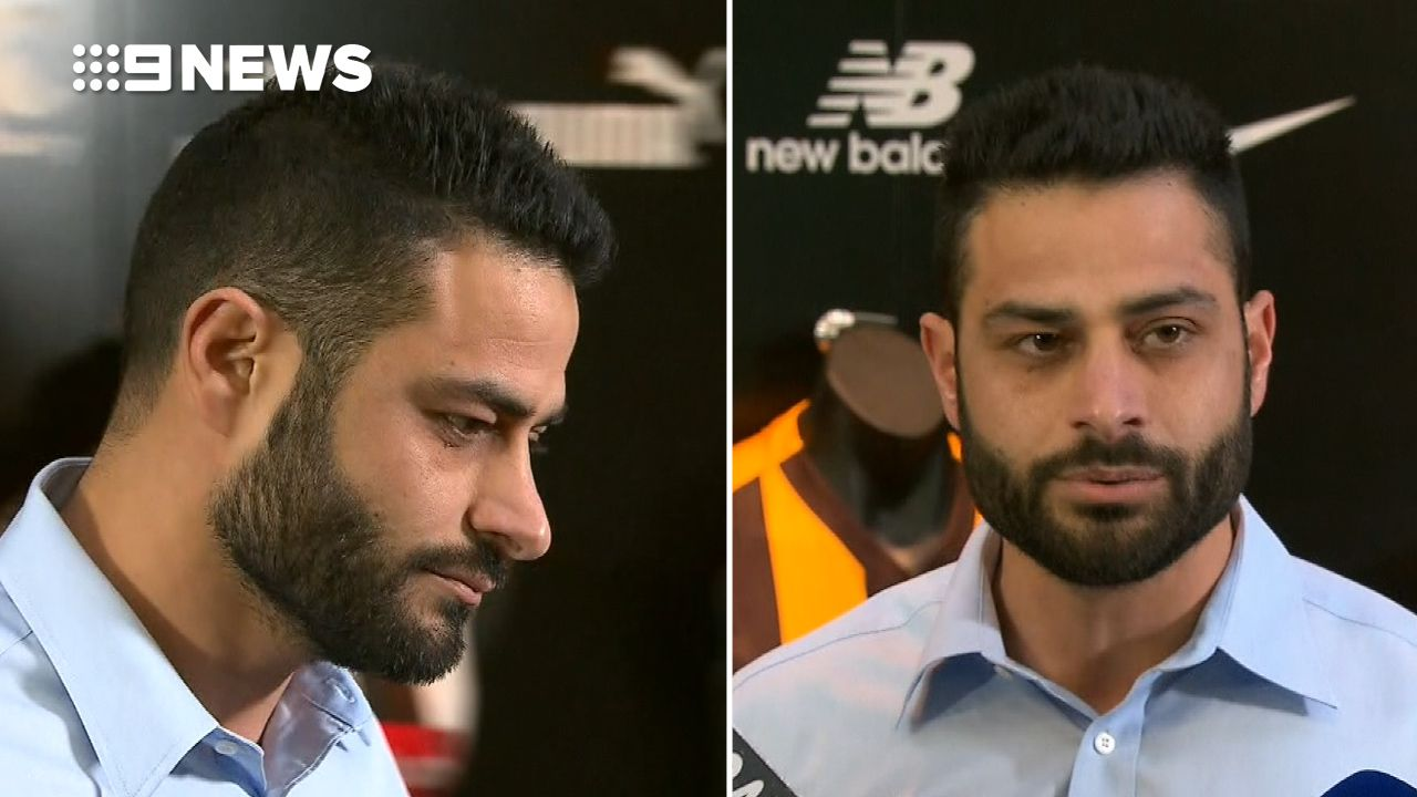 9RAW: AFL official gives emotional statement to media over coward punch