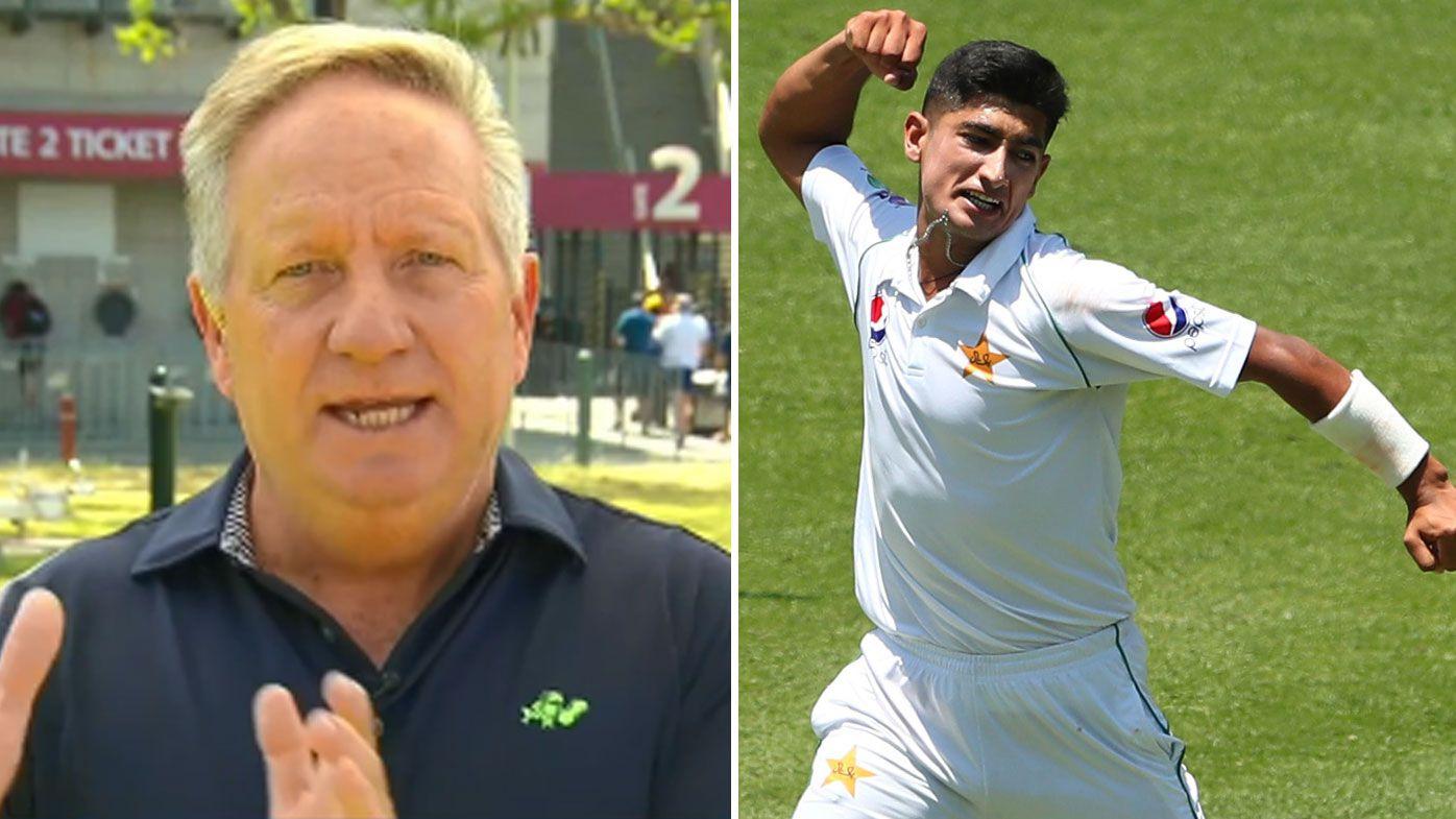 Cricket legend has cheeky crack at Naseem Shah age debate