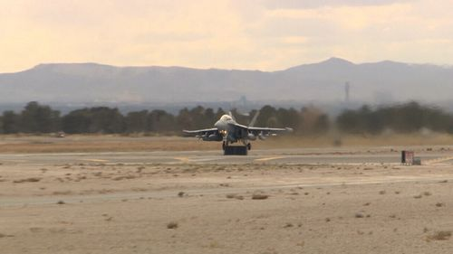 Only the RAAF and Britain's RAAF were invited to take part in the US military exercise. (9NEWS)
