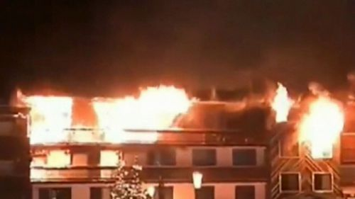 The blaze started in a staff accommodation building in the popular resort of Courchevel.