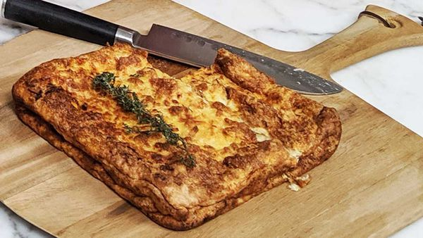Cheesy bread cheats souffle