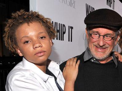 Steven Spielberg, daughter Mikaela, movie premiere