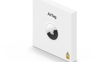 Apple's AirTag retail box updated with new button-battery warning label
