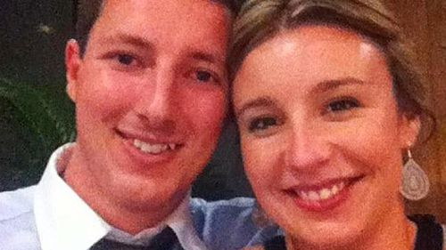 Stephanie Scott with fiance Aaron Leeson-Woolley. (Supplied)