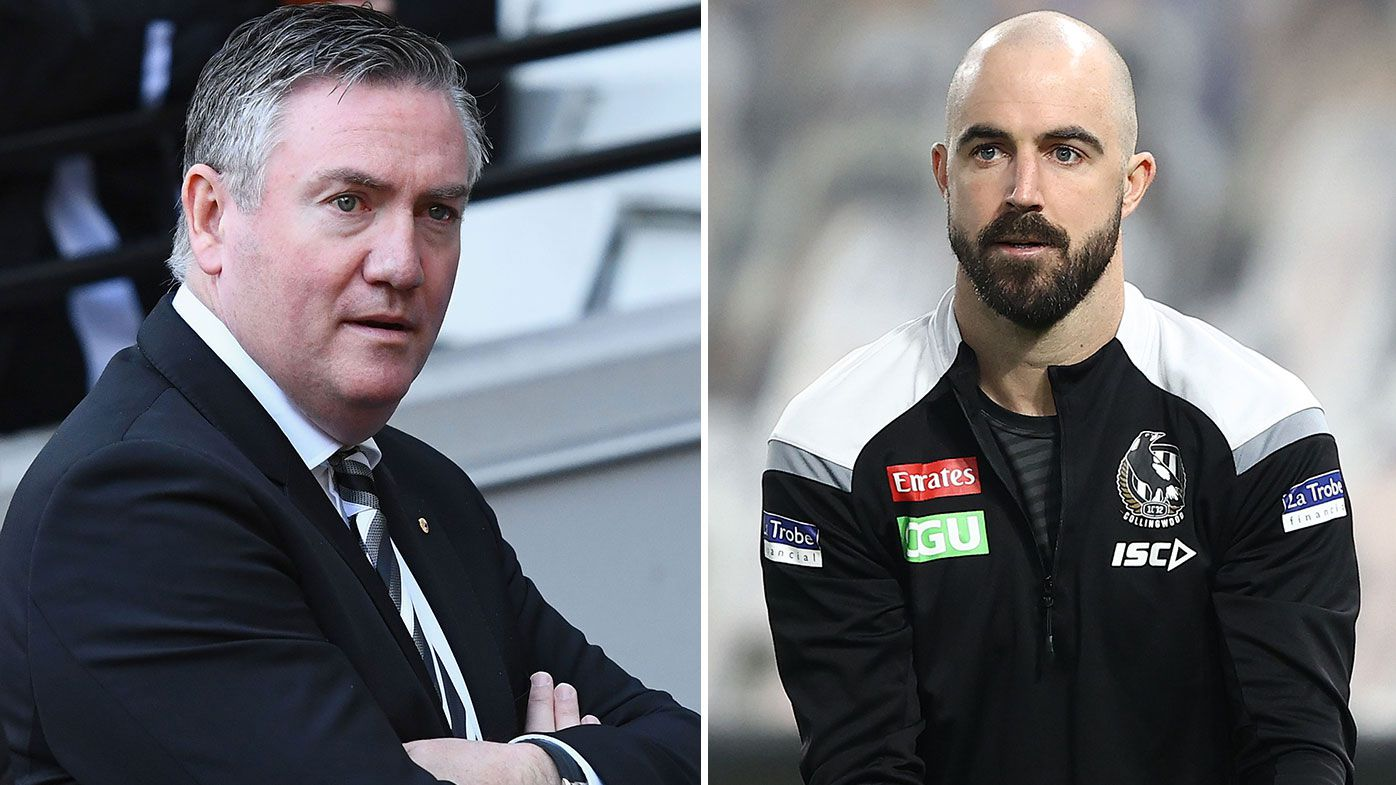 Collingwood president Eddie McGuire hits back at hypocrisy claims over Steele Sidebottom incident