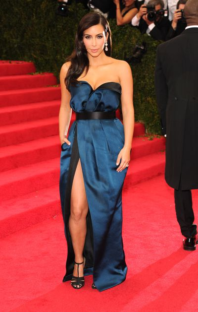 Kim Kardashian West in Lanvin at the 2014 Met Gala