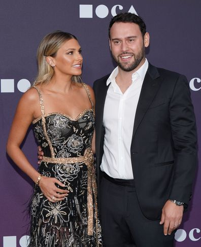 Scooter Braun and wife Yael Cohen Braun attend the MOCA Benefit in 2019.