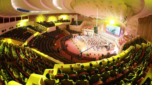 The People's Theatre in Pyongyang where celebrations were held. (AFP)