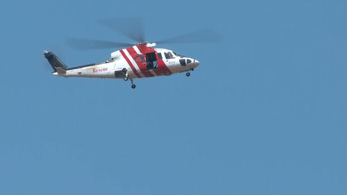 A helicopter was called in to help with the search.