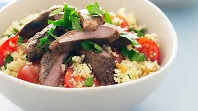 Spiced lamb with couscous