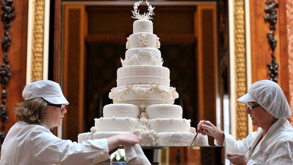 Royal wedding cakes through the years