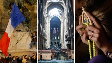 190417 Notre Dame cathedral fire in Paris vigils News France World