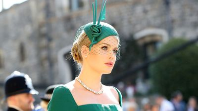 Lady Kitty Spencer arrives at the Royal Wedding, May 19