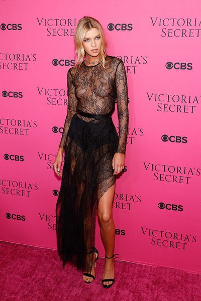 Stella Maxwellat the Victoria's Secret viewing party in New York.