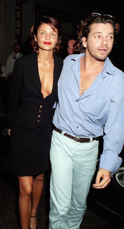 Helena Christensen with former boyfriend Michael Hutchence in 1994