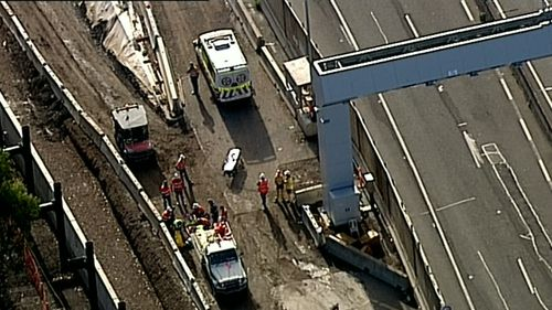 A man in his late 30s was injured when a trench collapsed on the NorthConnex project this morning.