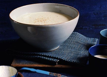 Pear, celeriac and Roquefort soup