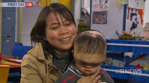 Quang and his mother Trang. (9NEWS)