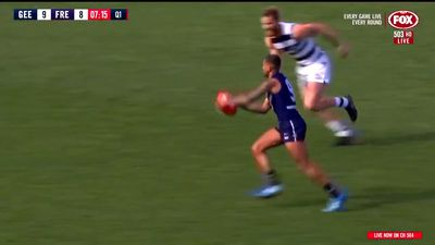 Geelong shatters AFL record with 23 consecutive goals in Dockers thrashing
