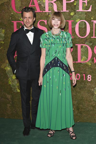 Anna Wintour with her son-in-law Francesco Carrozzini.
